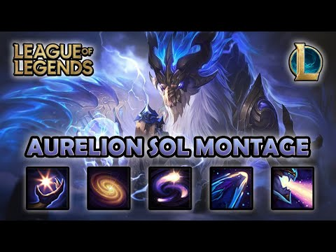 AURELION SOL MONTAGE - 100 IQ | Storm Dragon Aurelion Sol Skin | League of Legends