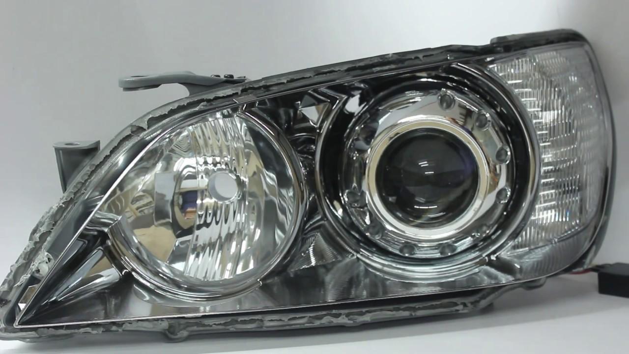2001-2005 lexus is300 switchback led halos hid retrofit headlights