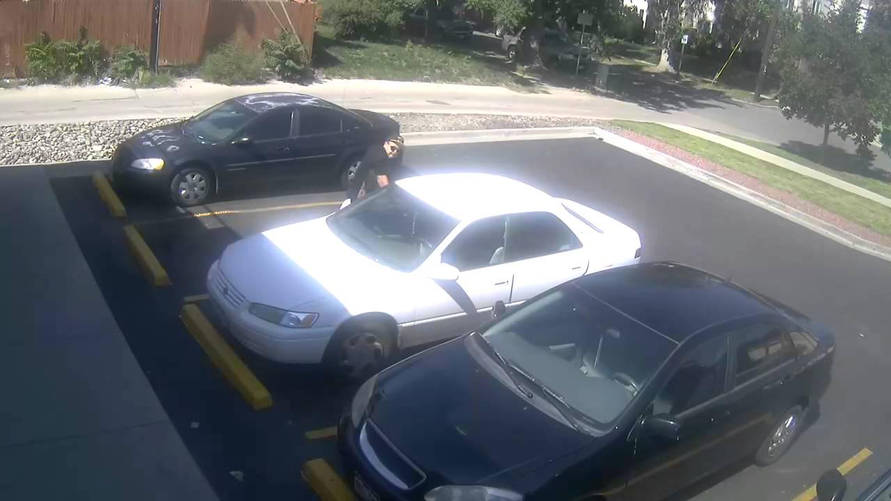 crime footage car break in youtube