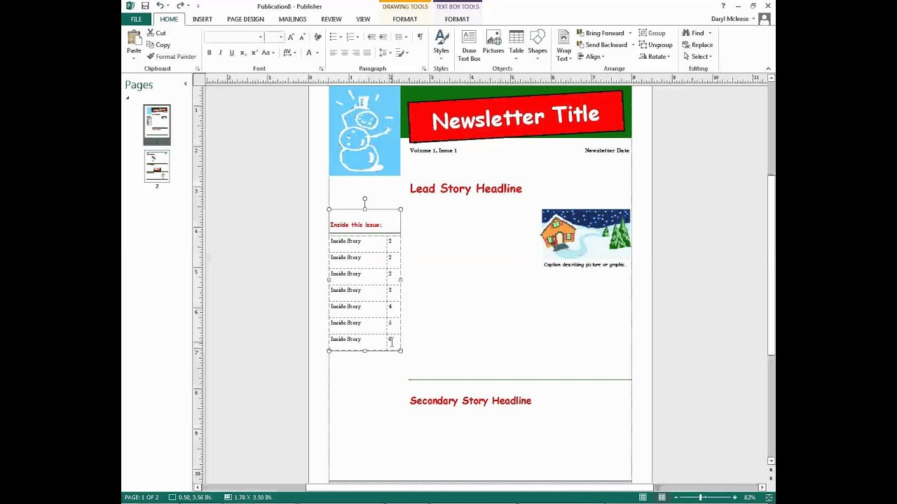 Microsoft publisher newsletter project video 1 youtube for Microsoft publisher youtube
