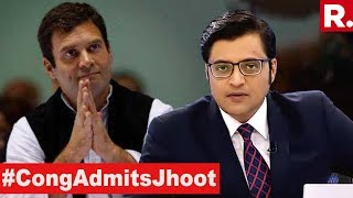 Rahul Gandhi Admits Rafale Lie In Court | The Debate With Arnab Goswami thumbnail