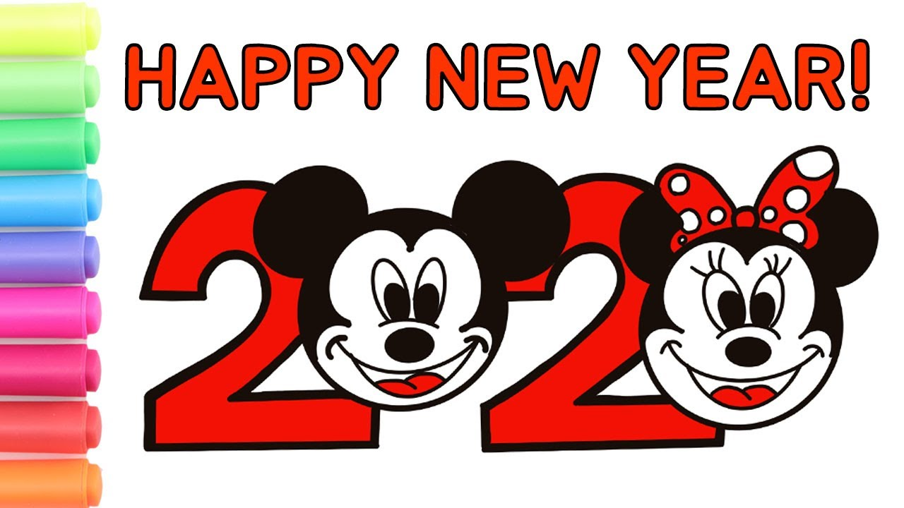 How to Draw 2020 Happy New Year | Happy New Year 2020 ...