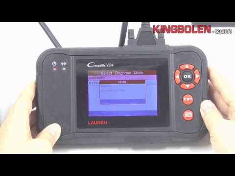 Thumbnail: Launch Creader VII+ CRP123 Multi-Language Car Diagnostic Scan Tool Software Shows Video