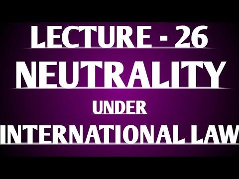 Neutrality in International