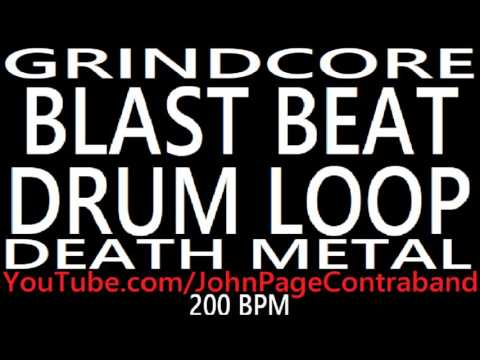 Grindcore Blast Beat Drum Loop 200 bpm Death Metal Backing Track