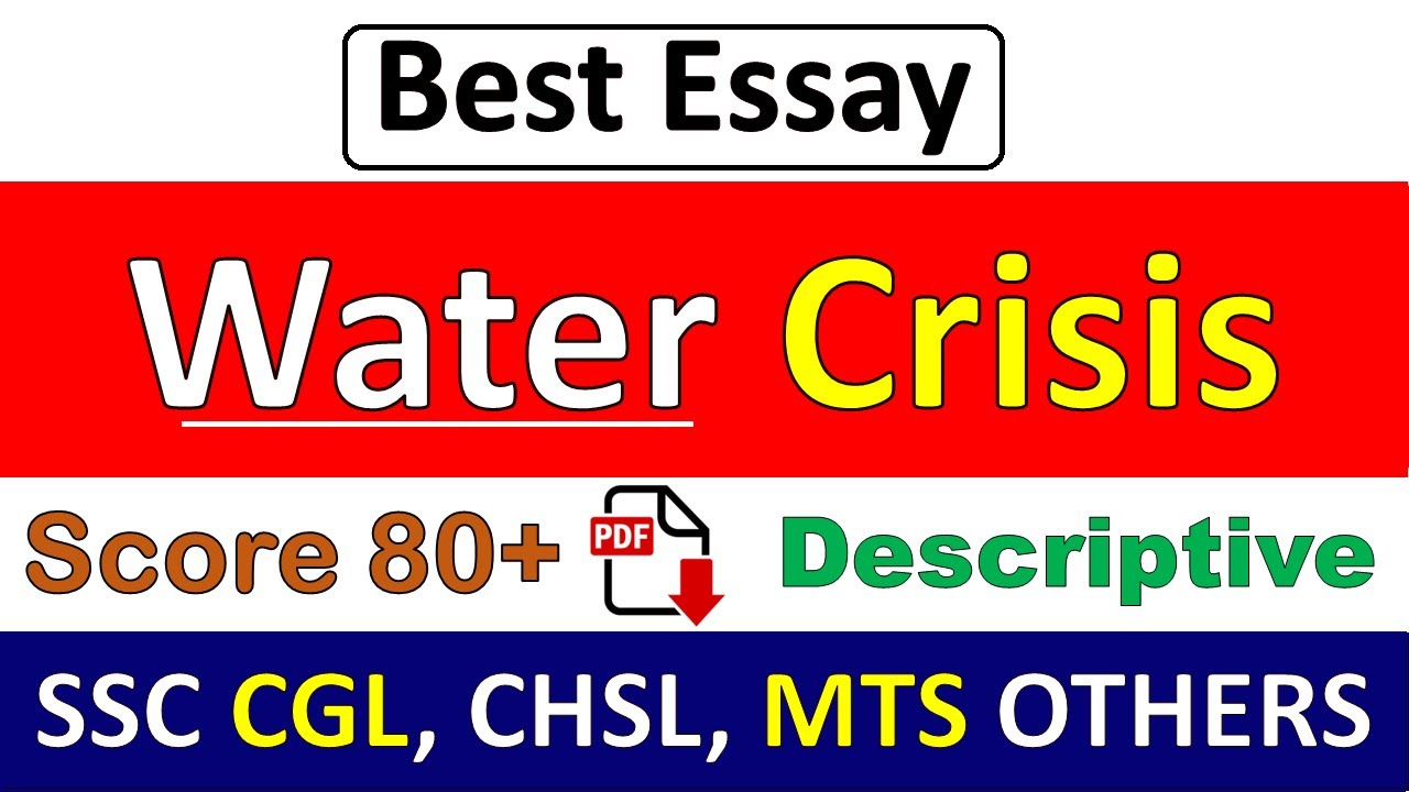 Essay water crisis