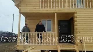 видео Строительство домов из бруса в  Вологодской области. Вологда, Череповец.