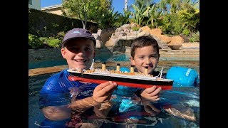 Larry Life TITANIC SUBMERSIBLE Landon Pool Play Guest!