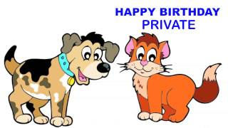 Private   Children & Infantiles - Happy Birthday