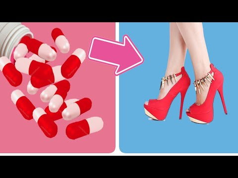 Glitter Red Shoes Doll dress Making Easy no sewing | Anna | Elsa | Disney princess | Kute Styles