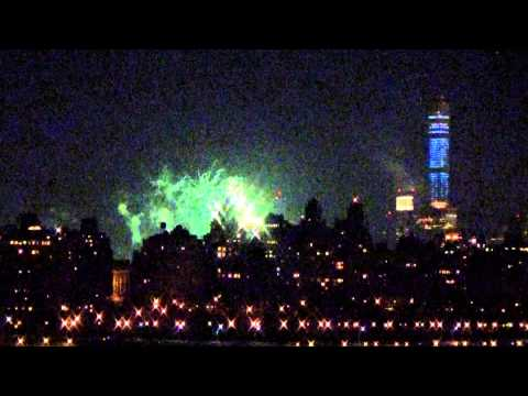 New York and Empire State Building New Year Fireworks 2015