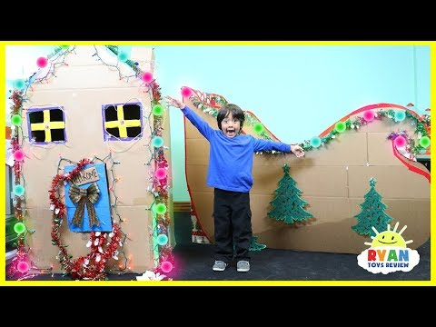 Download Youtube: Giant Christmas Box Fort Challenge and Cardboard Sleigh with Ryan