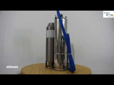 """Pompe immergée 4"""" 2.2kW/3cv - 230V - gros débit Découvrez ci-dessous nos vidéos de présentation du produit"""