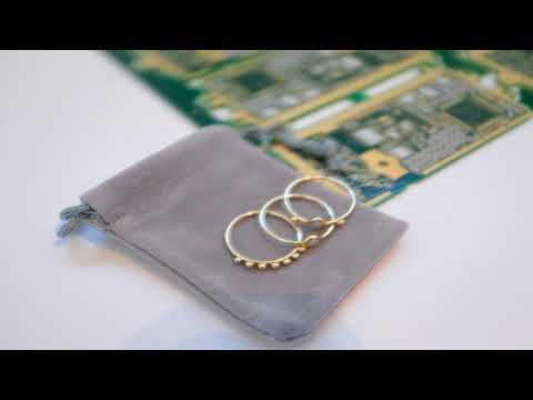 Dell is making jewelry with reclaimed gold from recycled computer guts