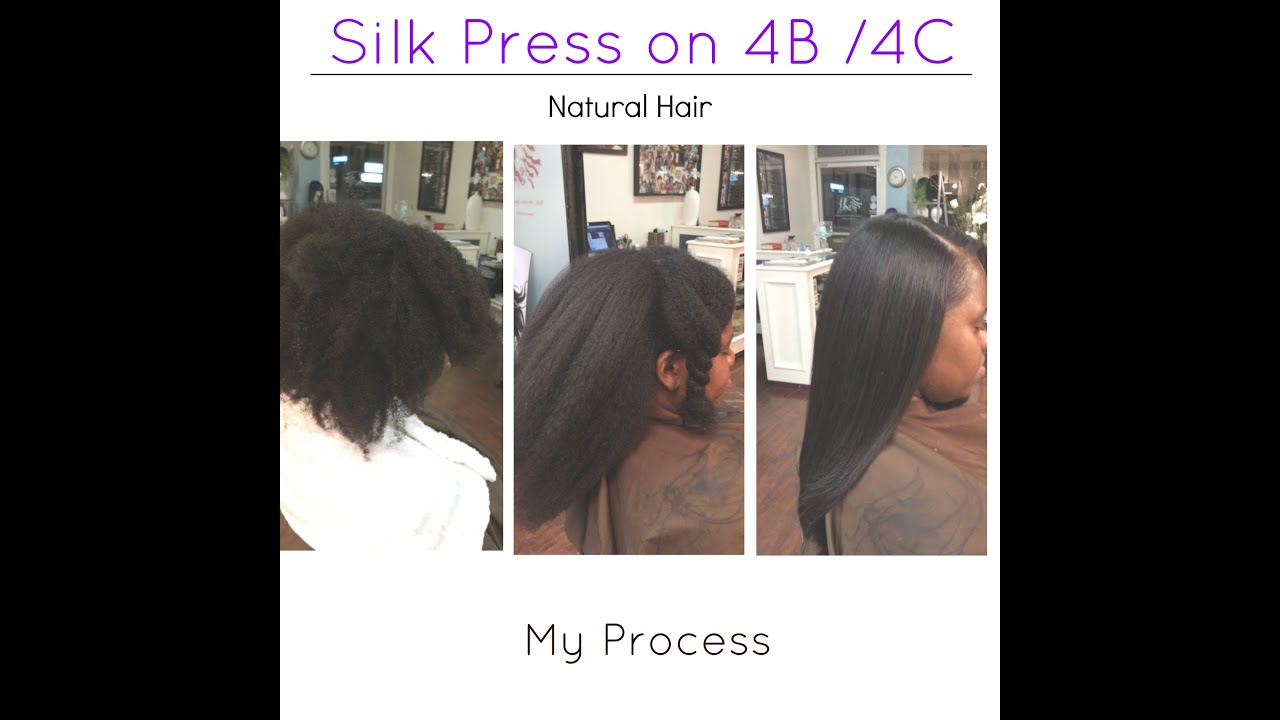Silk Press on Natural hair 4b/4c -My Process- Los Angeles Hair Salon ...