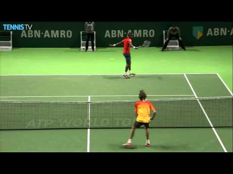Monfils Flicks Hot Shot Against Zverev At Rotterdam 2016