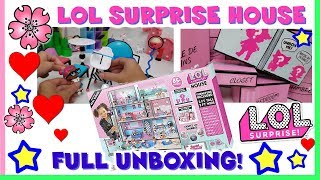 LOL SURPRISE HOUSE! Apertura COMPLETA by Lara e Babou full unboxing