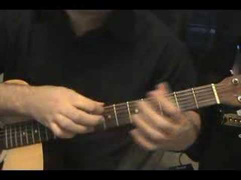 2 handed tapping with G major chord - Kevin Armstrong