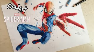 COMO DIBUJAR A SPIDERMAN | PS4 | 2018 | how to draw spiderman PS4 2018
