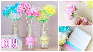 Как сделать ЦВЕТЫ ИЗ САЛФЕТОК / DIY: Paper Napkin Flowers / NataliDoma(DIY #paperflowers #napkinflowers #цветыизсалфеток #цветыизбумаги #мастеркласс Мастер-класс: Как сделать очень красивые..., 2016-07-05T08:00:00.000Z)