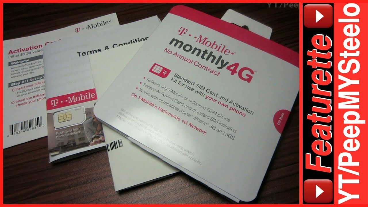 TMobile PrePaid No Contract Sim Card Activation Kit For Cheap Voice Data Plans 4G LTE
