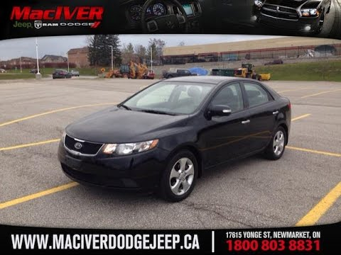 2010 black kia forte ex newmarket ontario maciver dodge. Black Bedroom Furniture Sets. Home Design Ideas