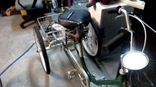 Motorized 3 wheel bike