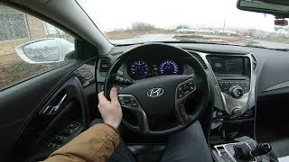 2012 Hyundai Grandeur 3.0 V6 POV Test Drive