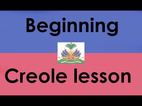Beginning Creole Lesson