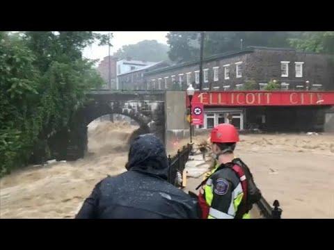الفيضانات تضرب ايليكوت في ولاية ماريلاند مجددا  - نشر قبل 2 ساعة