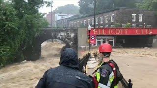 الفيضانات تضرب ايليكوت في ولاية ماريلاند مجددا