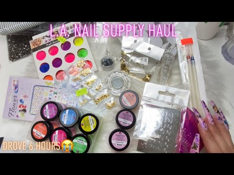 ANOTHER L.A. NAIL SUPPLY HAUL | so many new supplies!