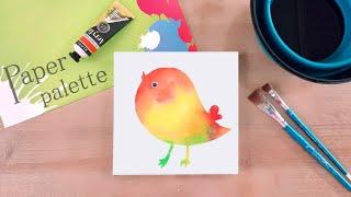 Easy Stencil _ Chick I 엄마표 미술놀…