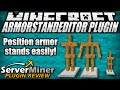 How to use armor stand GUI in Minecraft with ArmorStandEditor Plugin