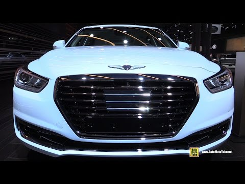 2017 Genesis G90 Exterior and Interior Walkaround 2016 New York Auto Show
