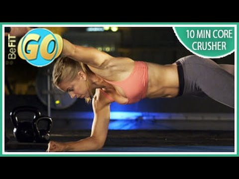 10 Min Core Crusher Workout for 6-pack Abs: BeFiT GO