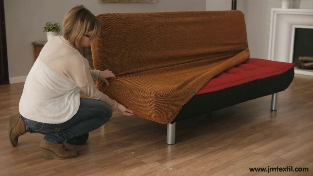 Funda de sof clic clac youtube for Colchones de futon