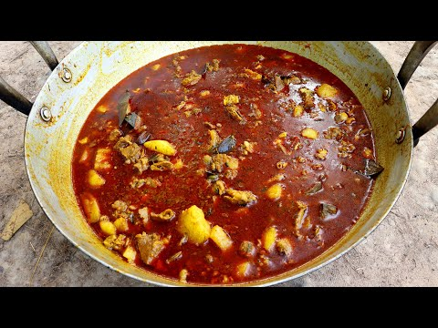 Best Indian Papaya MUTTON curry | Full Goat Mutton Cooking with Papaya in Purely Village Style