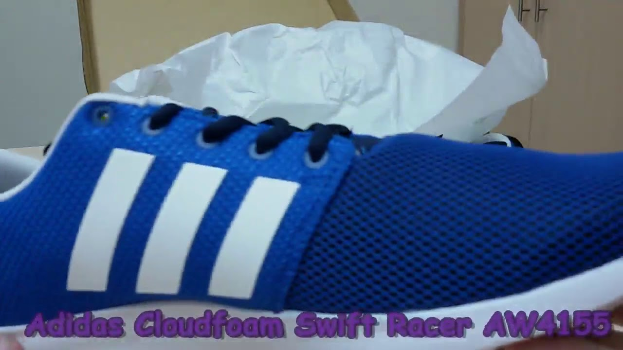 743138b810f Unboxing Review sneakers Adidas Cloudfoam Swift Racer AW4155