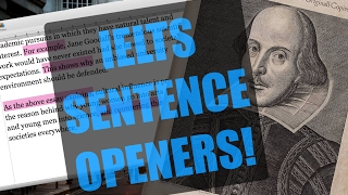 How to start sentences in your IELTS essay!