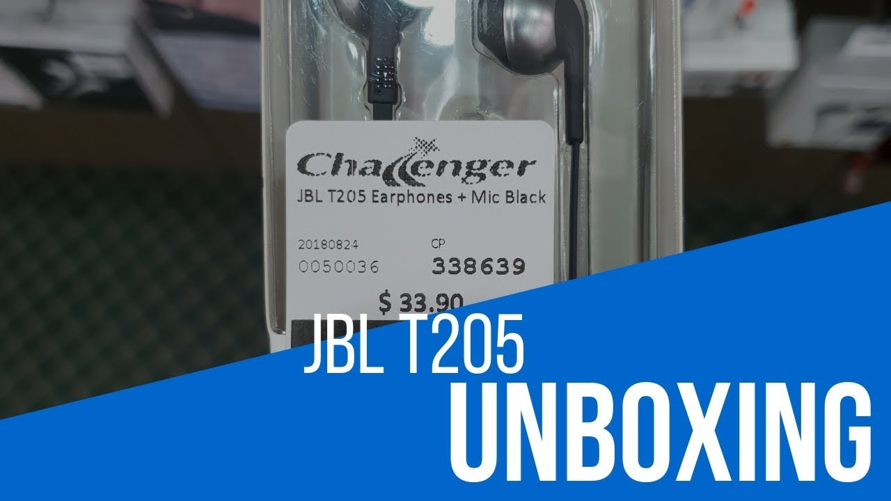 12c8c4fbcd0 JBL T205 Unboxing - YouTube