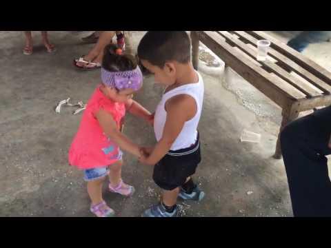 Cuban Children Dancing in a Cuban farm in Sancti Spiritus: Rick Davis and Hirania Luzardo