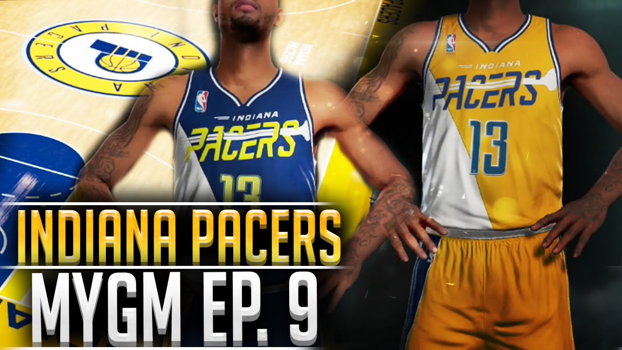 6ad40423b NBA2K16 Pacers MyGM  9 - Team Relocation! New Jerseys   Court DESIGN!! -  YouTube