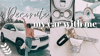 DECORATE MY NEW CAR WITH ME! | cleaning, organizing, + making it aesthetic!