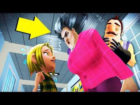 The Neighbor's Sister is a VERY MEAN TEACHER! (*NEW* Update) | Hello Neighbor Mobile Game Rip Off