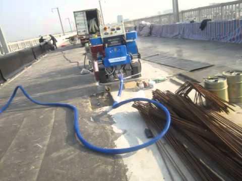 polyurea foam machine for high-speed train waterproofing