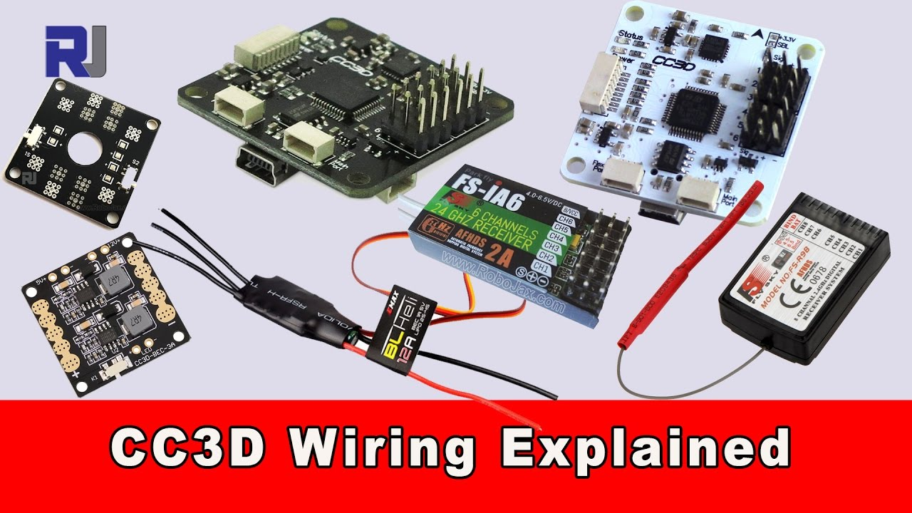 CC3D Flight Controller Wiring Connection Explained  YouTube