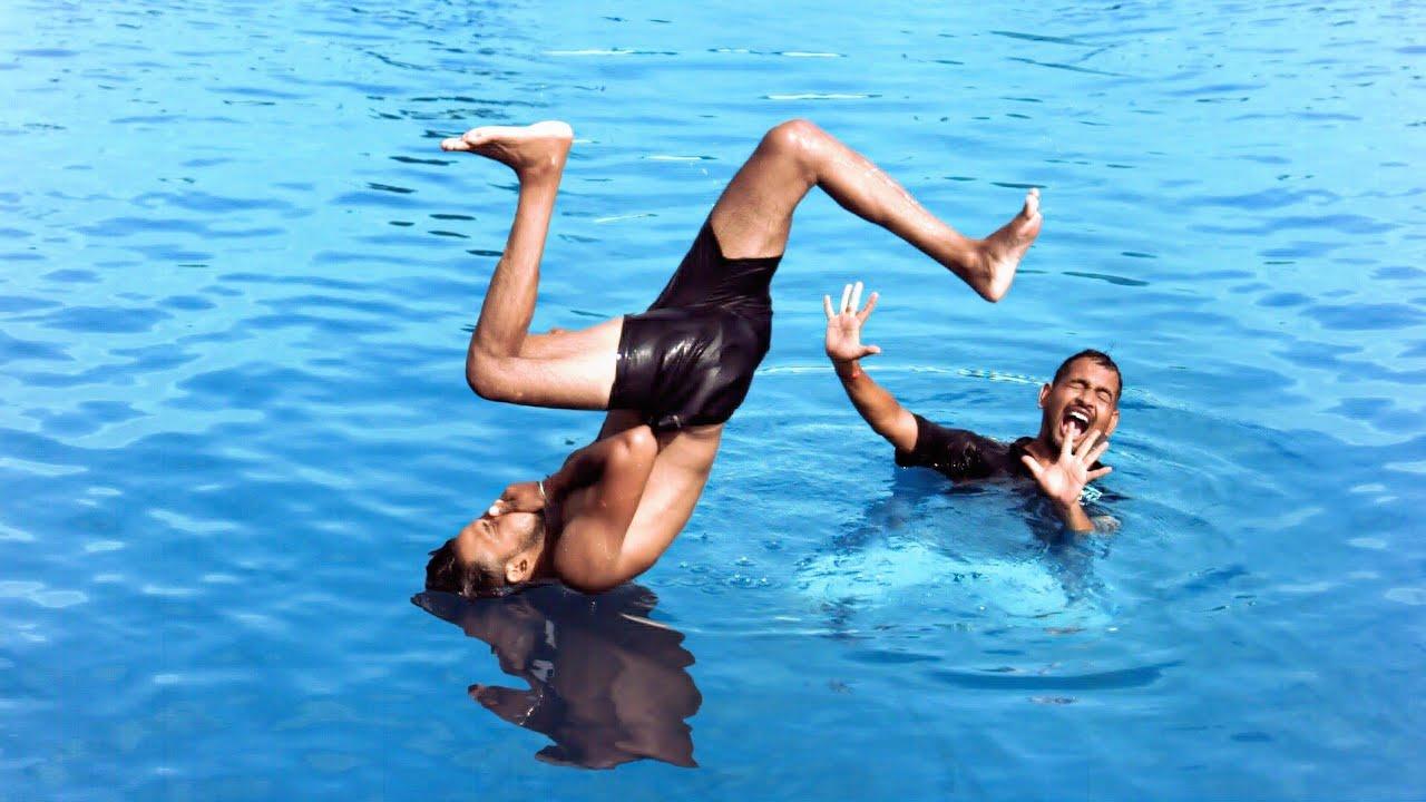 अबे मरेगा क्या पागल - Jumping In Water | Super Slow Motion