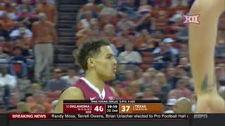 Oklahoma vs Texas Men's Basketball Highlights