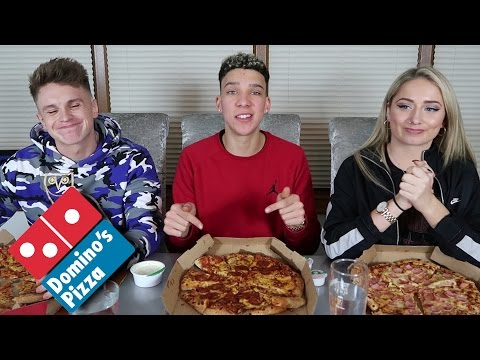 Elliot vs Joe vs Saffron - DOMINO'S PIZZA CHALLENGE!!